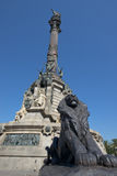 克里斯托弗・哥伦布,巴塞罗那,西班牙的纪念碑 库存图片