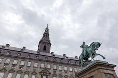 克里斯蒂安堡宫殿 免版税库存照片