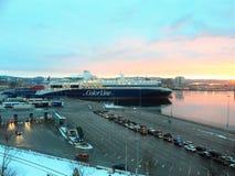 克里斯蒂安桑港口,挪威 免版税图库摄影