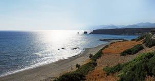 克里特岛全景 库存照片