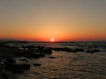 克里特岛日落 库存图片