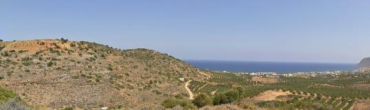 克里特岛横向视图 免版税库存图片