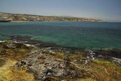 克里特岛海岸 免版税库存照片