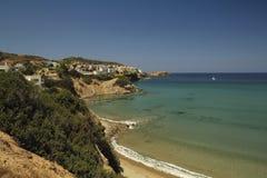 克里特岛海滩 免版税库存照片
