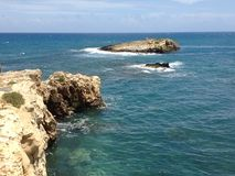 克里特岛海 免版税图库摄影