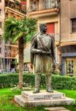 克里特岛马其顿战斗机雕象在塞萨罗尼基 免版税库存图片