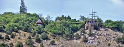 克里米亚半岛山全景夏天月份的8月 免版税库存图片