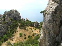 2008克里米亚半岛山松夏天 免版税库存照片