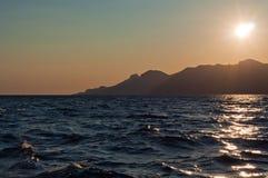 克里米亚半岛日落 免版税库存图片