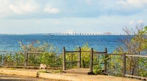 克里米亚半岛桥梁 图库摄影