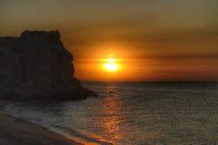 克里米亚半岛海岸日落 免版税图库摄影