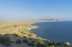 克里米亚半岛海岸9月 库存照片