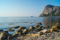 克里米亚半岛海景在一个晴天 免版税图库摄影