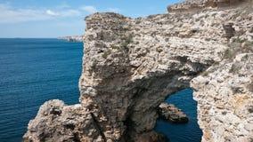 克里米亚半岛的峭壁 免版税图库摄影