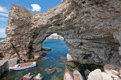 克里米亚半岛的峭壁 免版税库存图片