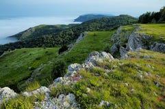 克里米亚半岛Deeplis-Haya山在夏天 库存照片