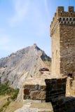 克里米亚堡垒sudak 图库摄影