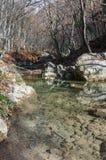 克里米亚山河 图库摄影