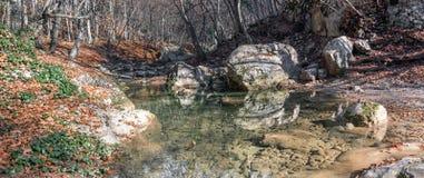 克里米亚山河 库存图片