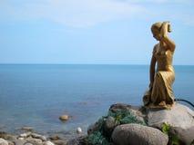 克里米亚山,岩石歌剧女主角,猫岩石, Simeiz 登上Ai陪替氏 克里米亚的类型 免版税库存照片