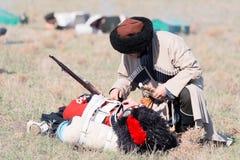 克里米亚战争的历史再制定 免版税图库摄影