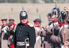 克里米亚战争的历史再制定 免版税库存照片