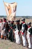 克里米亚战争的历史再制定 库存图片