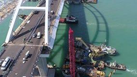 克里米亚桥梁的建筑2018年4月26日的 影视素材