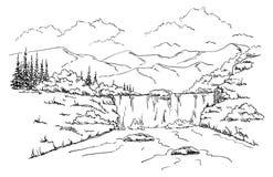 克里米亚横向乌克兰瀑布