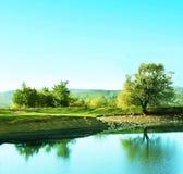 克里米亚湖山 免版税图库摄影