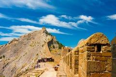 克里米亚热那亚人的堡垒 免版税库存图片