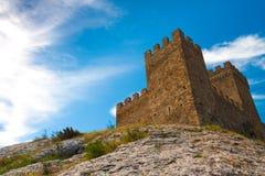克里米亚热那亚人的堡垒 库存图片