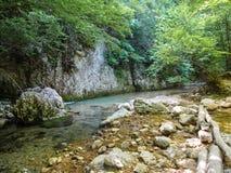 克里米亚的峡谷 库存照片