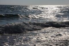 克里米亚风险长的海运日落乌克兰 免版税库存照片