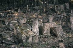 克里米亚- Karaites公墓  图库摄影