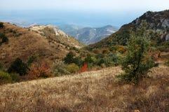 克里米亚Demerdzhi山在秋天 免版税库存图片