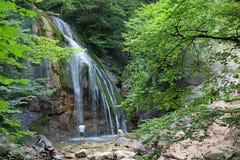 克里米亚djur高全景解决方法乌克兰瀑布 库存图片