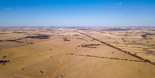 克里金,从空气的西部澳大利亚农场土地 库存照片