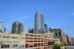 派克集市和西雅图地平线 库存照片