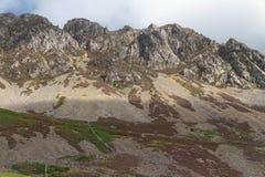 克雷格y贝拉, Mynydd Mawr, Snowdonia峭壁  免版税库存照片