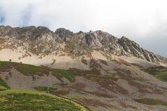 克雷格y贝拉, Mynydd Mawr, Snowdonia峭壁  图库摄影