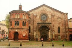 克雷莫纳,意大利 圣卢卡教会 库存图片