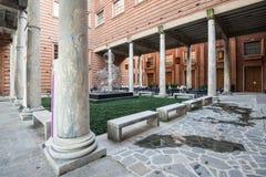 克雷莫纳,意大利2014年11月14日:小提琴,广场Marco博物馆  免版税库存图片