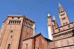 克雷莫纳-克雷莫纳-意大利- 018的大教堂 库存图片