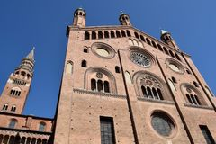 克雷莫纳-克雷莫纳-意大利- 013的大教堂 免版税库存图片