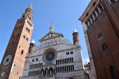 克雷莫纳-克雷莫纳-意大利- 022的大教堂 免版税库存照片