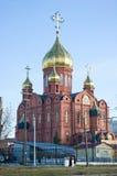 克麦罗沃,俄罗斯- 11月05 2015年 俄国基督教会在克麦罗沃市,克麦罗沃州地区的首都 西西伯利亚 库存照片