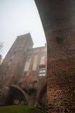 克维曾镇和城堡 免版税库存图片
