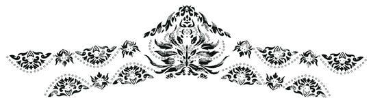 克什米尔无刺指甲花设计时尚 图库摄影