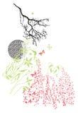 克什米尔无刺指甲花设计时尚 库存图片